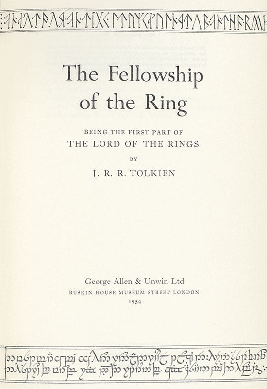 The Lord of The Rings Trilogy: The Fellowship of the Ring, The Two Towers, The Return of the King.
