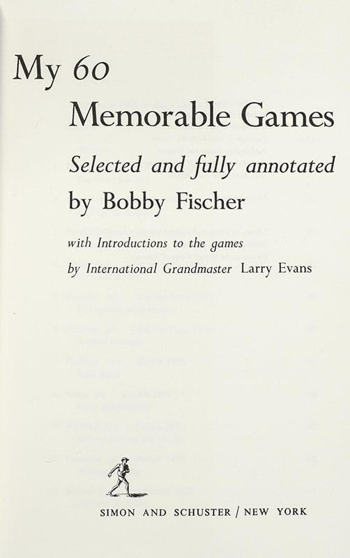 My 60 Memorable Games.