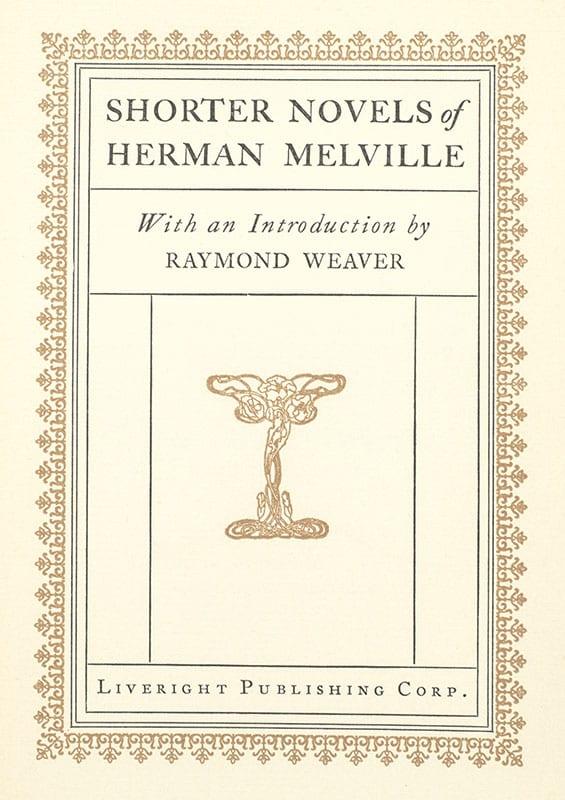 Shorter Novels of Herman Melville.