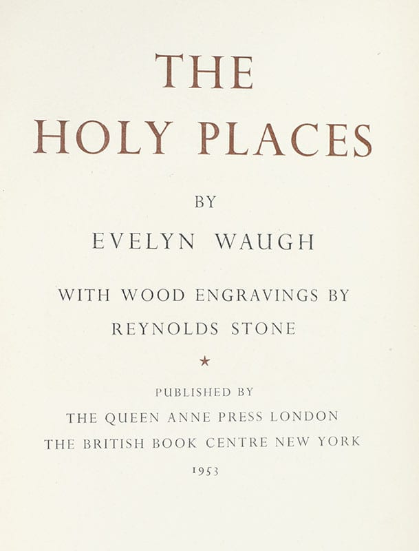 The Holy Places. With Wood Engravings by Reynolds Stone.