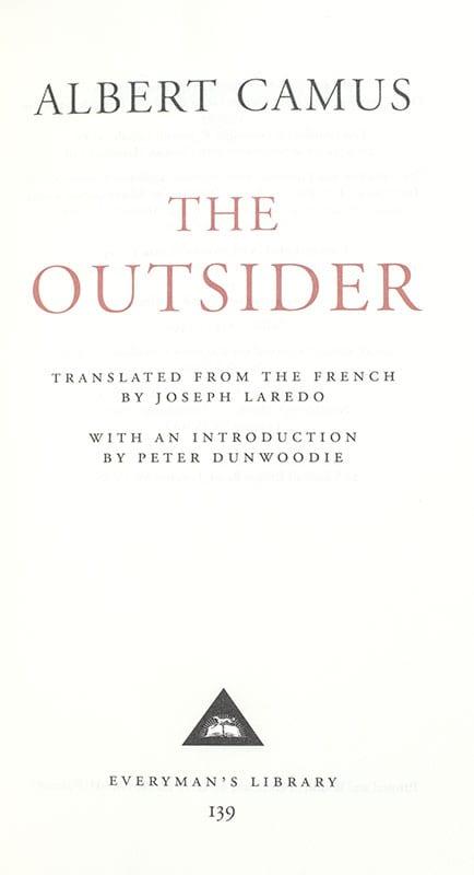 The Outsider (The Stranger).
