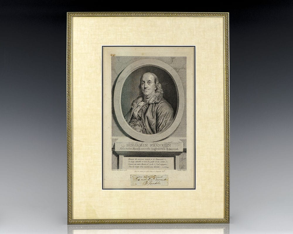 Benjamin Franklin Autograph Note Signed.