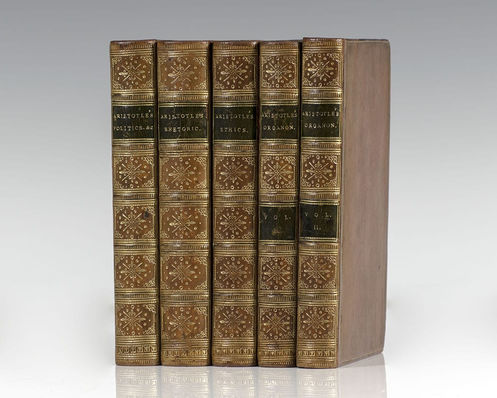 Aristotle's Politics and Economics; Treatise on Rhetoric; Nicomachean Ethics; Organon, or Logical Treatises.