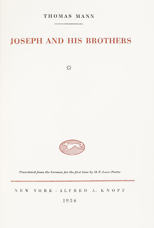 Joseph and His Brothers.