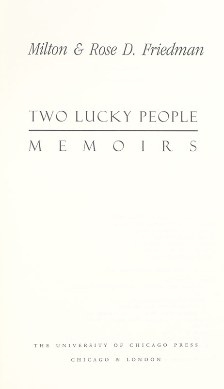 Two Lucky People.