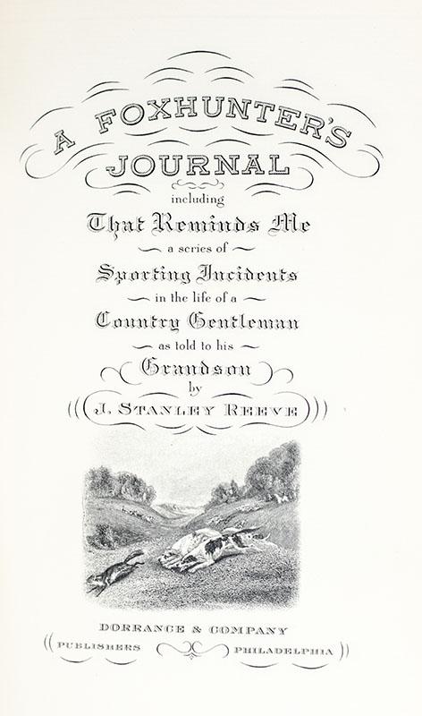 A Foxhunter's Journal.