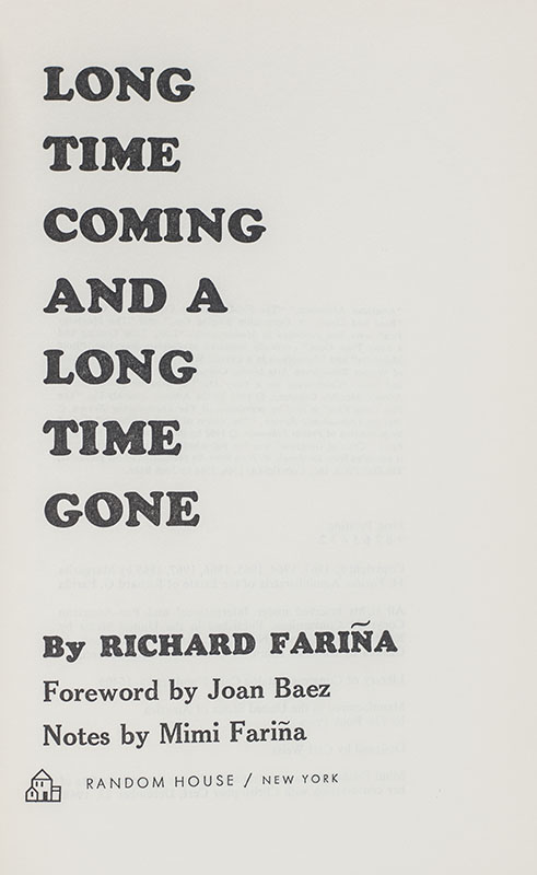 Long Time Coming And A Long Time Gone.