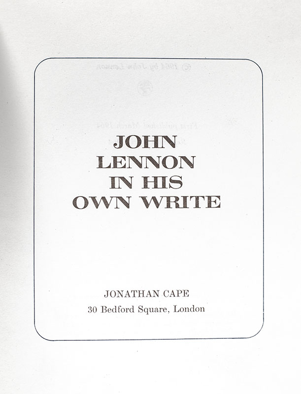 In His Own Write.