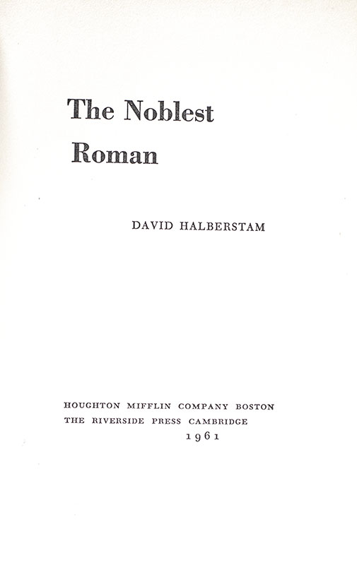 The Noblest Roman.
