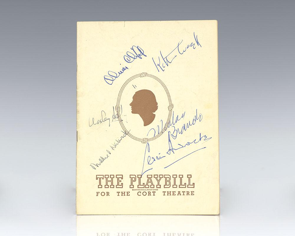 Marlon Brando Signed Candida Playbill.