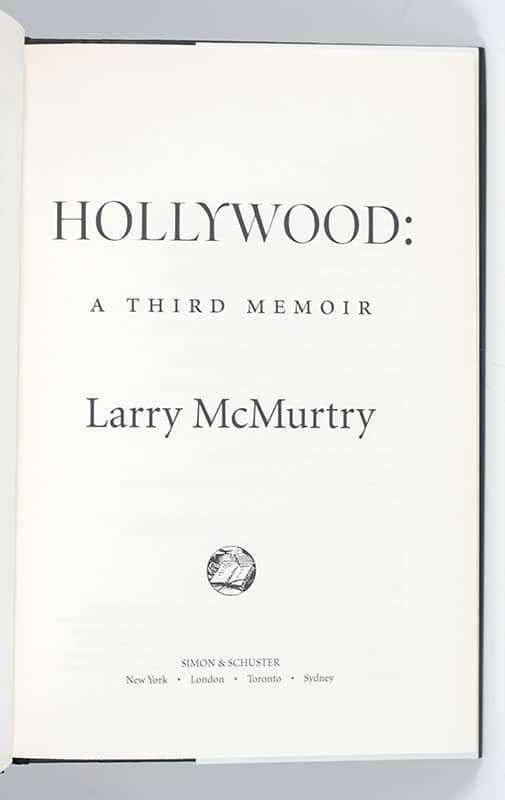 Hollywood: A Third Memoir.