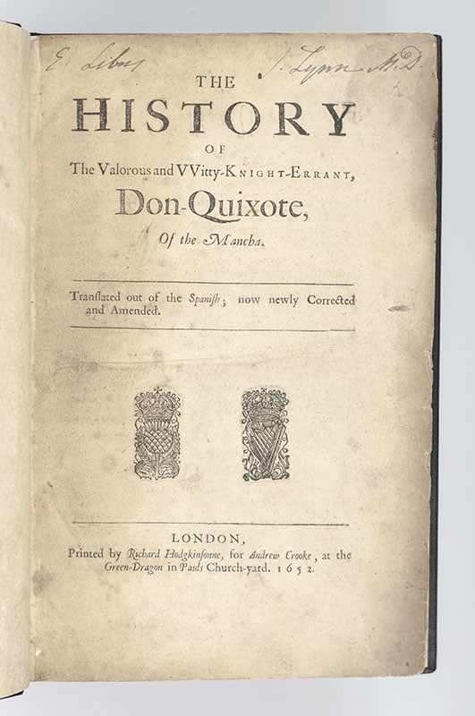 The History of The Valorous Witty-Knight-Errant Don-Quixote, Of the Mancha.