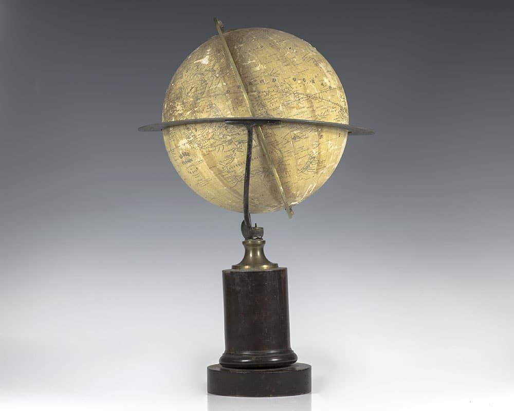 Globe Classique, Nouvelle Edition: Rare 19th Century Charles Dien Terrestrial Table Globe.