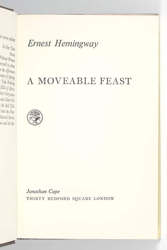 A Moveable Feast.