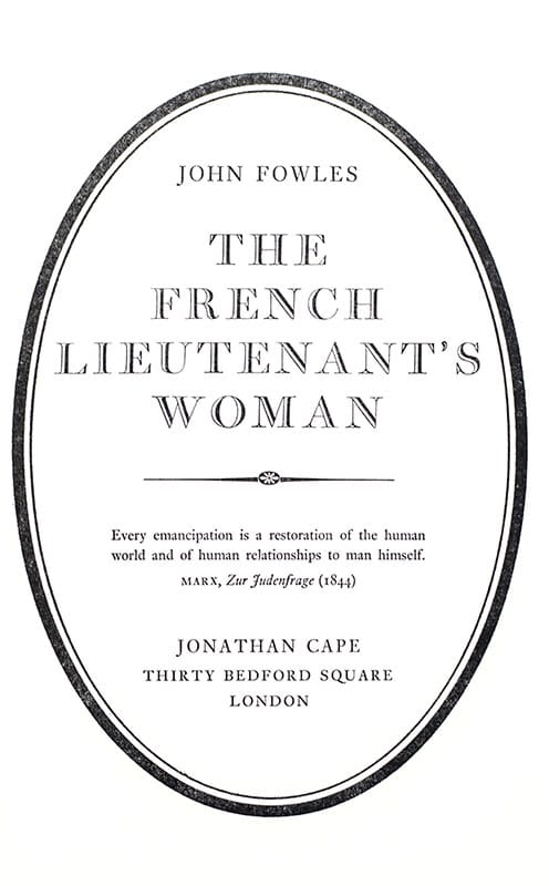 The French Lieutenant's Woman.