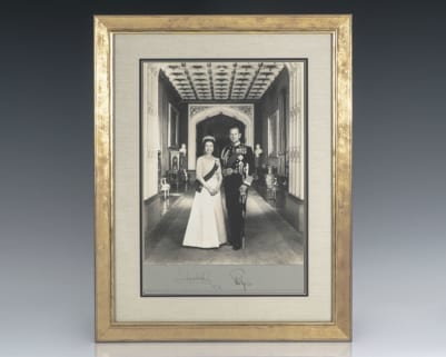 Queen Elizabeth II and Prince Philip Photograph Signed.