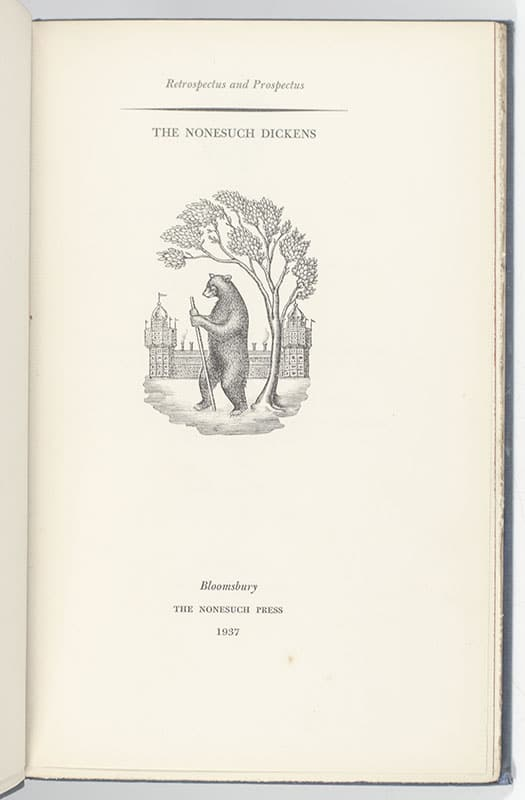 Nonesuch Dickensiana: Charles Dickens and His Illustrators.