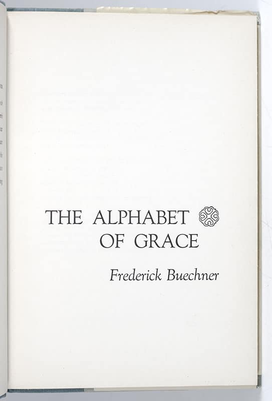 The Alphabet of Grace.