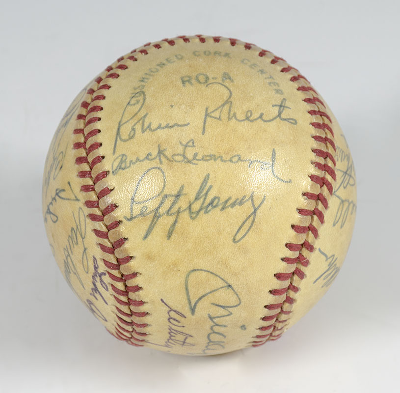 Baseball Hall of Famers Signed Baseball.
