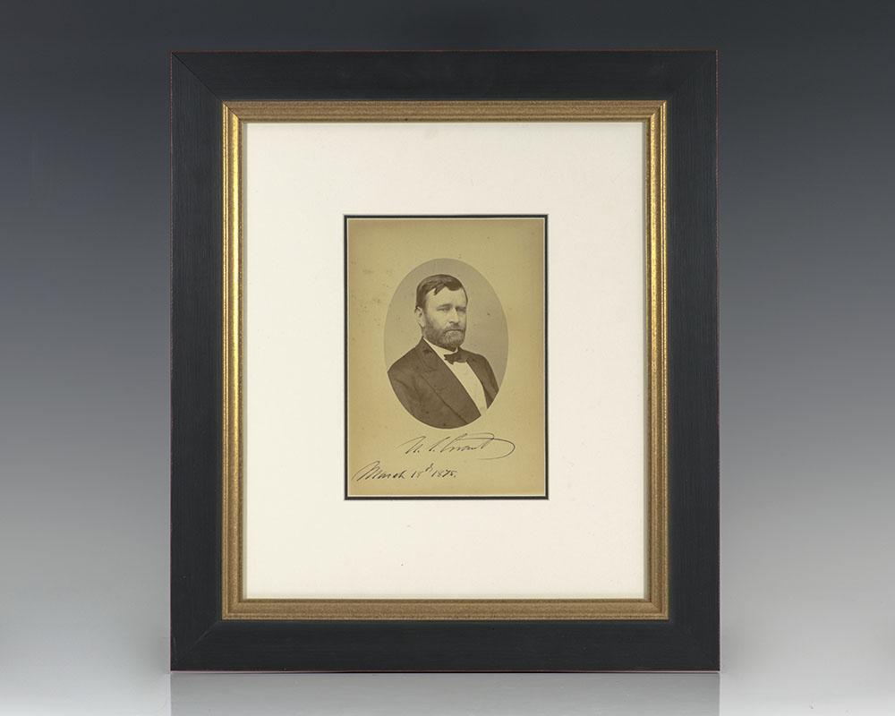 Mathew Brady Ulysses S. Grant Photograph Signed.