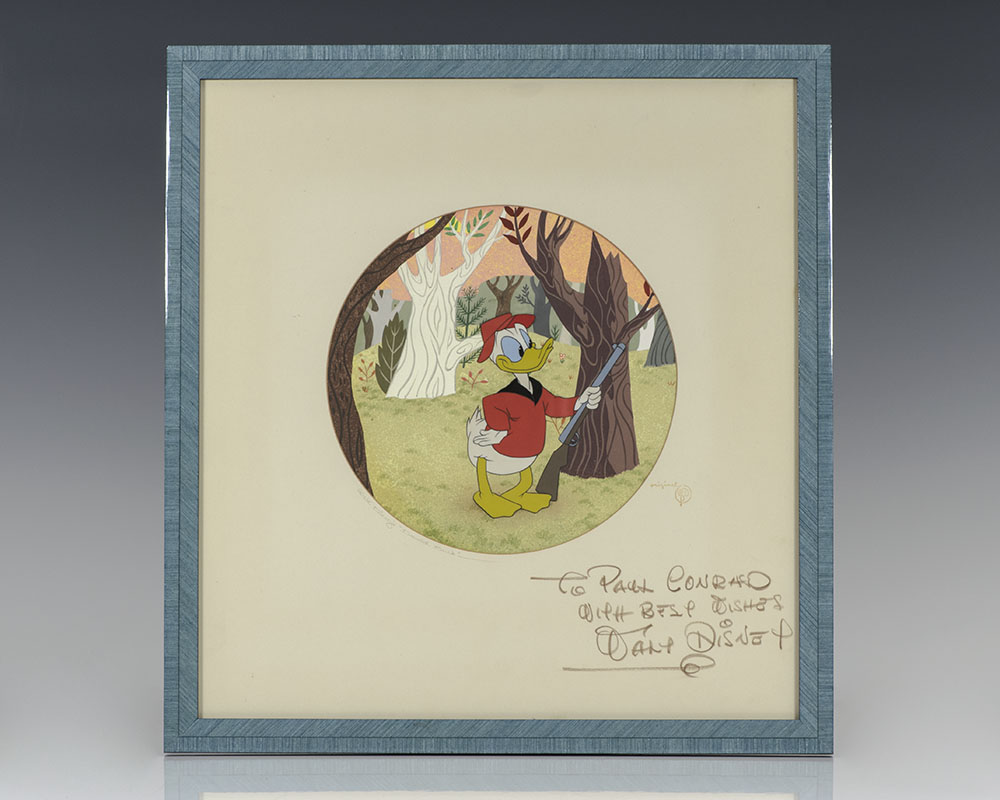 Original Walt Disney Donald Duck Drawing Signed.