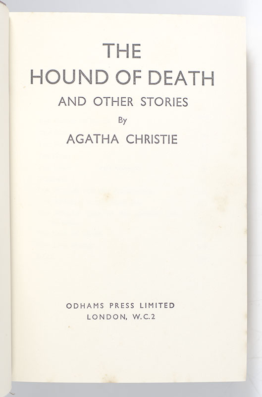 The Hound of Death and Other Stories.
