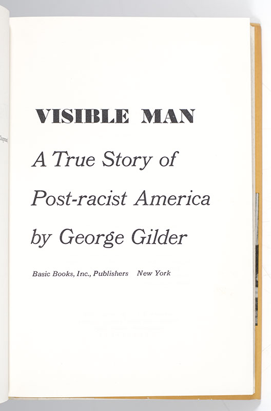 Visible Man: A True Story of Post-Racist America.