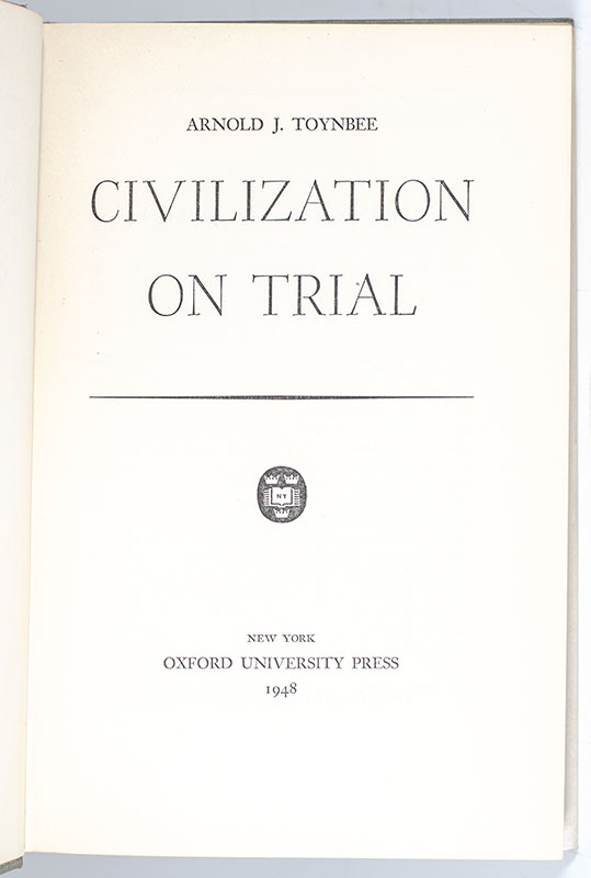 Civilization on Trial.