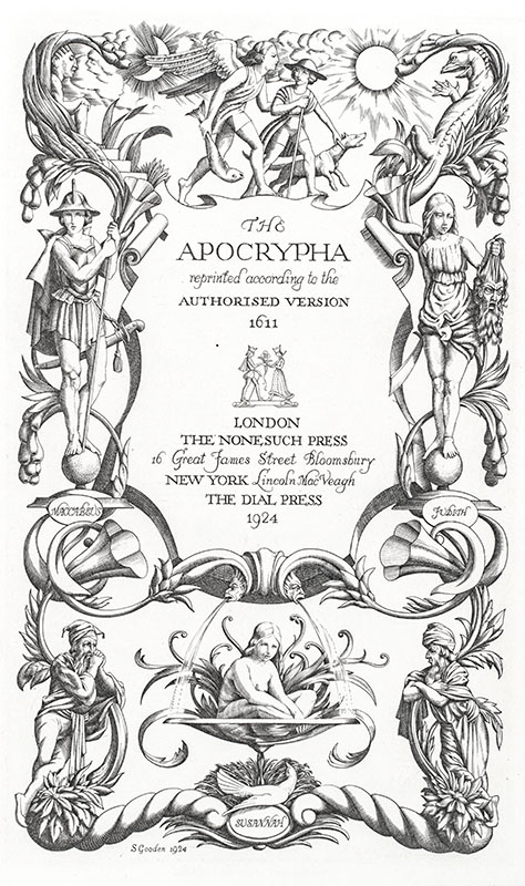 The Holy Bible & The Apocrypha Reprinted According to the Authorised Version 1611.