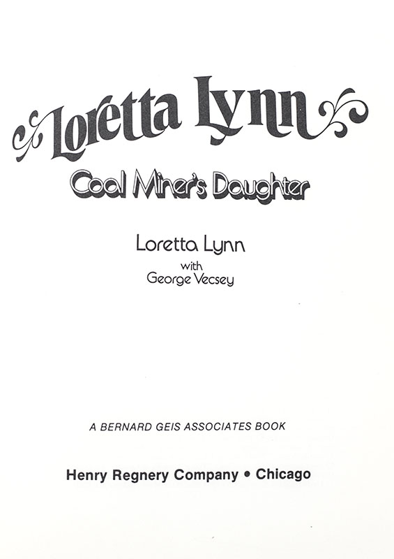 Coal Miner's Daughter.
