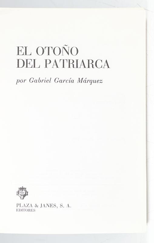 El Otono del Patriarca (The Autumn of the Patriarch).