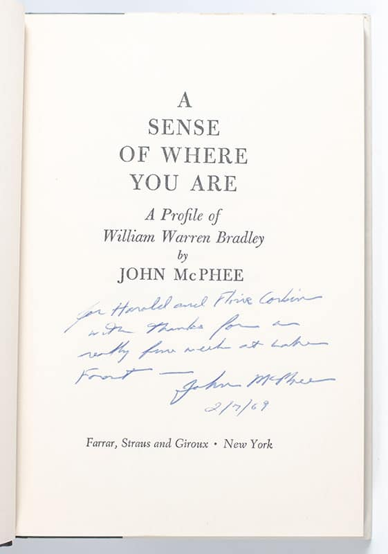 A Sense of Where You Are: A Profile of Princeton's Bill Bradley.