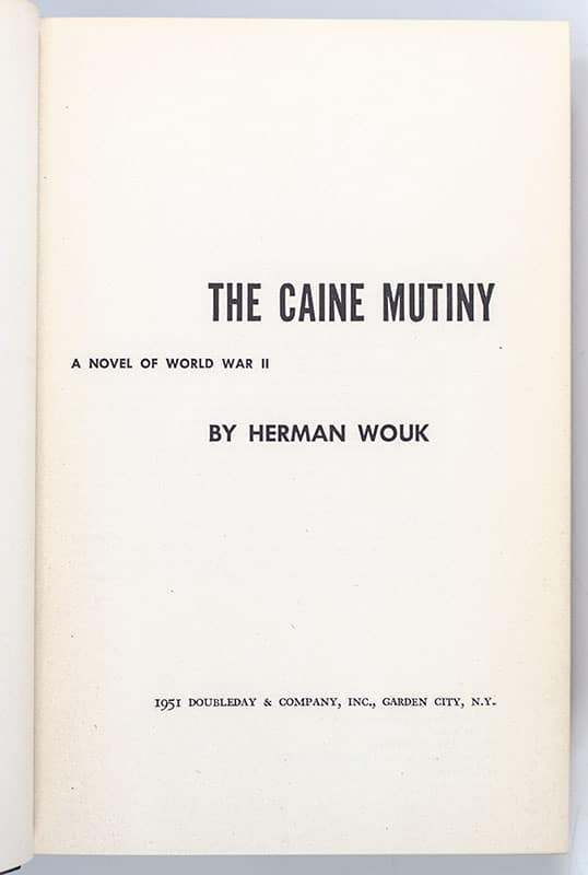 The Caine Mutiny.
