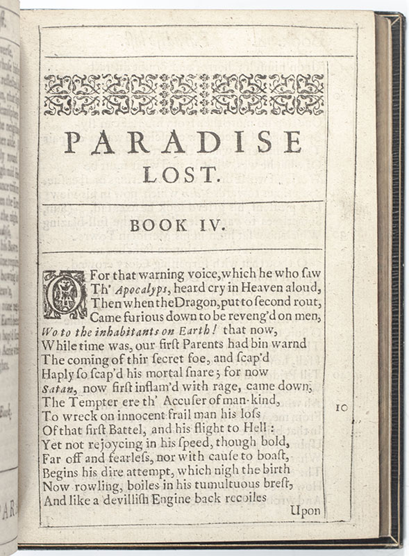 Paradise Lost: A Poem in Ten Books.