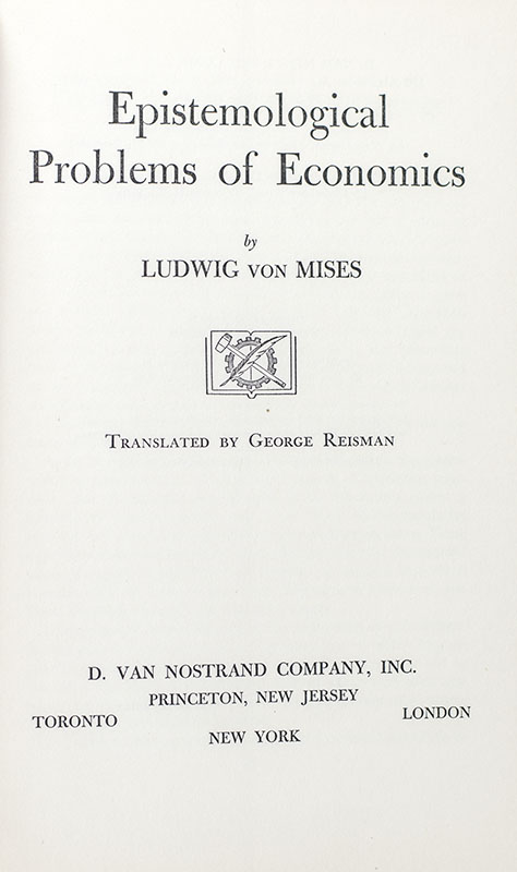 Epistemological Problems of Economics.