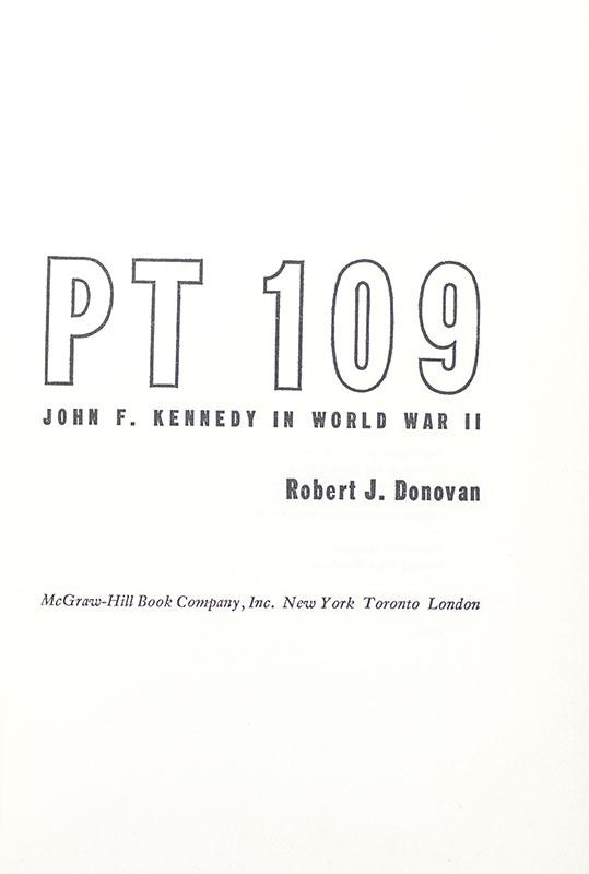 PT 109: John F. Kennedy in World War II.
