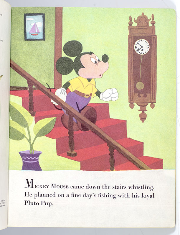 Walt Disney's Mickey Mouse and Pluto Pup.