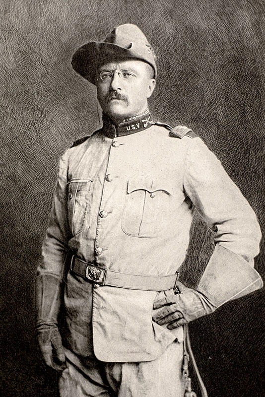 Original Theodore Roosevelt and the Rough Riders Photograph.