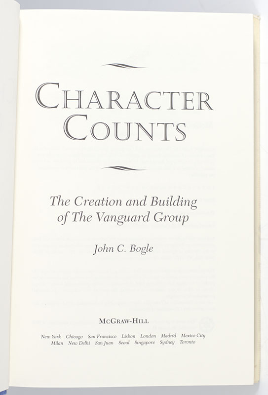 Character Counts : The Creation and Building of the Vanguard Group.