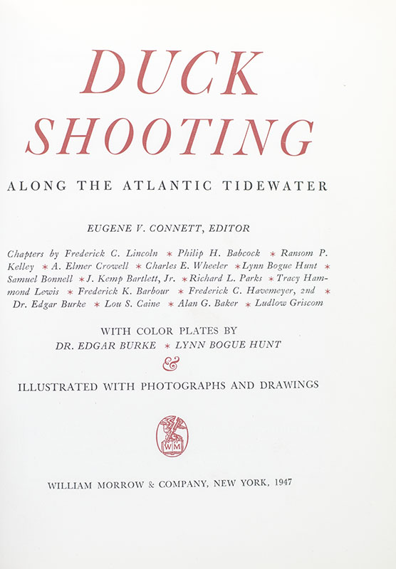 Duck Shooting Along the Atlantic Tidewater.