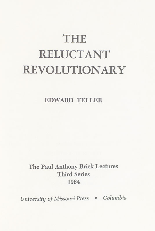 The Reluctant Revolutionary.