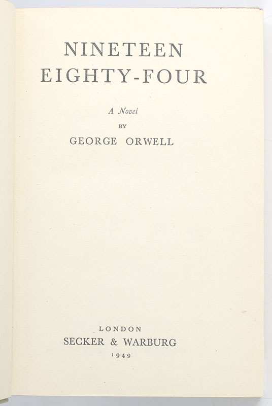 Nineteen Eighty-Four.