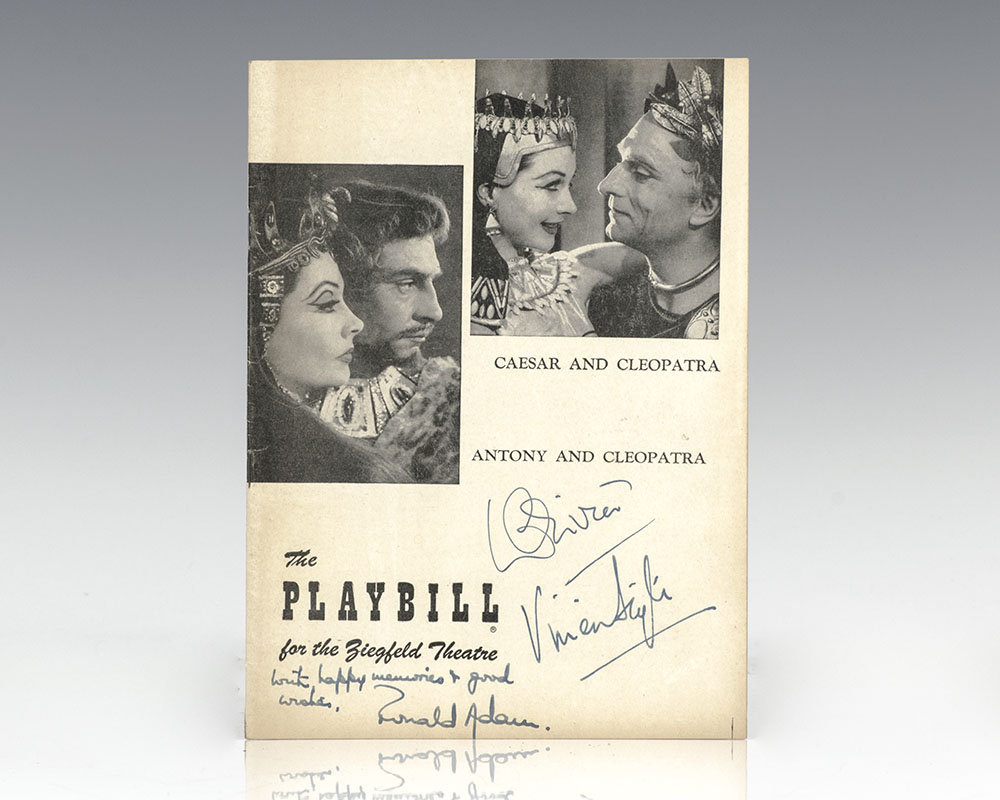 Original Caesar and Cleopatra/ Anthony and Cleopatra Signed Playbill.