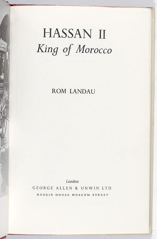 Hassan II King of Morocco.