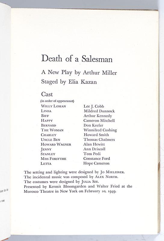 Death Of A Salesman.