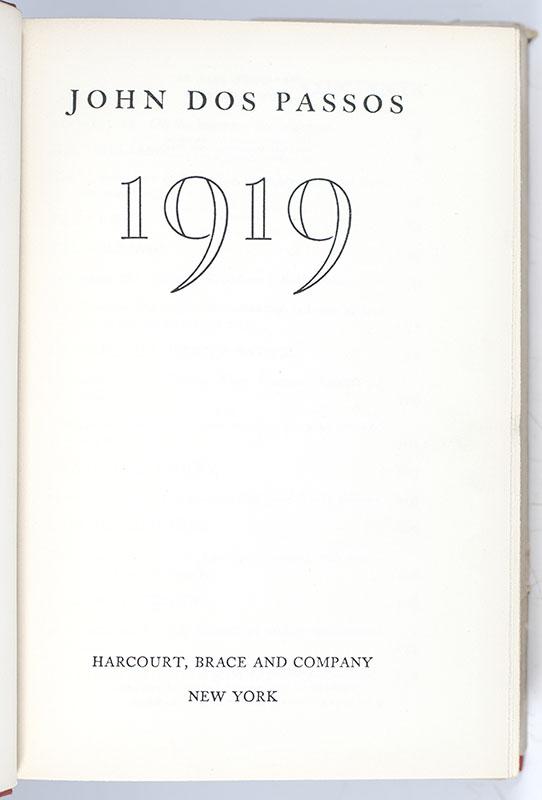 Nineteen-Nineteen [1919].
