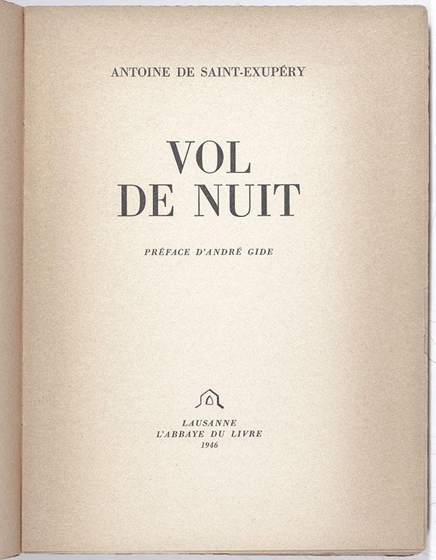 Vol de Nuit. [Night Flight].