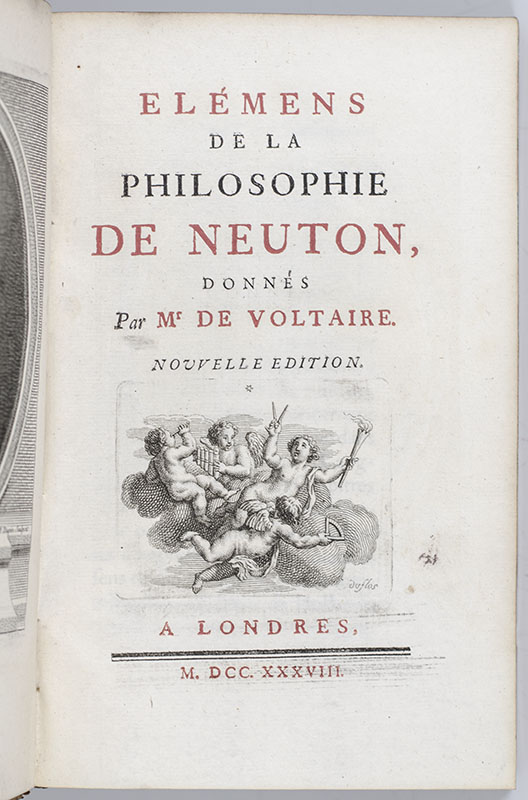 Elemens de la Philosophie de Neuton [Elements of the Philosophy of Newton].