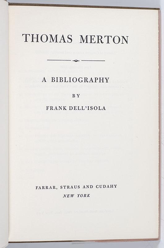 Thomas Merton: A Bibliography.