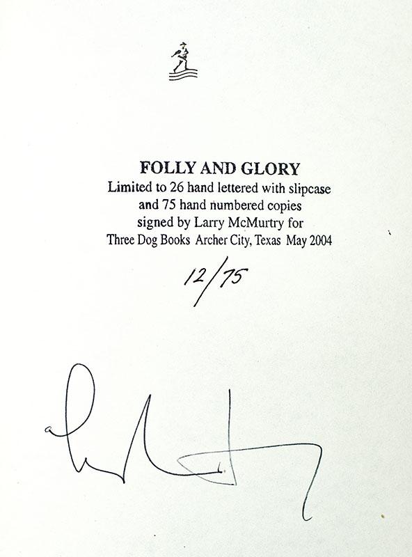 Folly and Glory.